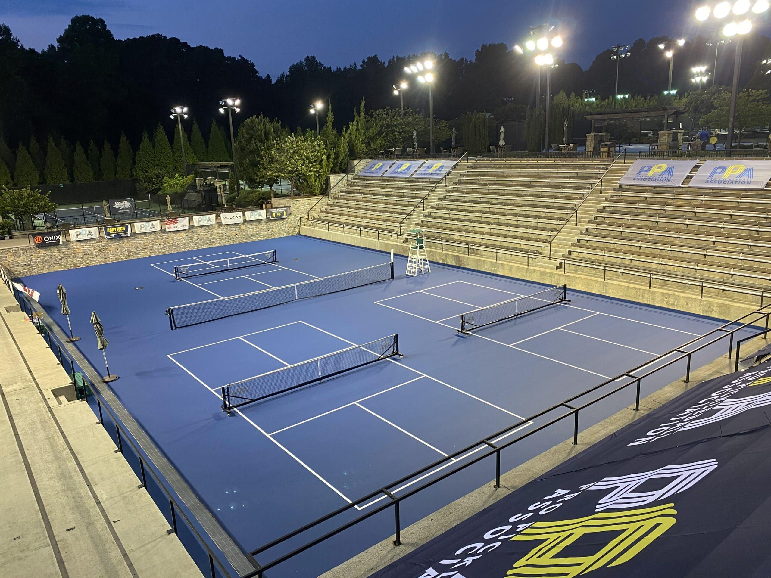 Professional Pickleball Association Championship Court